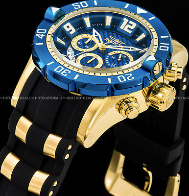 Invicta Men's Pro Diver Scuba Gen III Chronograph 18K Gold Plated SS 200M Watch