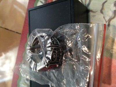 Crusaders men's ruby cross ring & King Arthur's court ring SZ.11 new