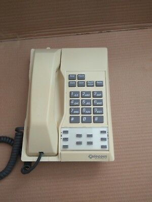 Telecom Australia Vintage Home Phone 1990s Touch Dial Cream w wallplate