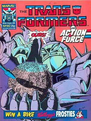 The Transformers and Action Force - Marvel Uk Comic # 182