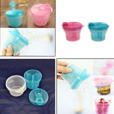 Travel Rotating Baby Infant Milk Powder Feeding Dispenser Container Storage Box