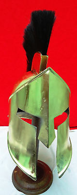Medieval Roman Spartan Helmet 300 Movie Brass Antique Finish