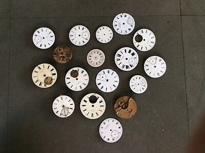 Collection Of Antique Clock Faces And Movements