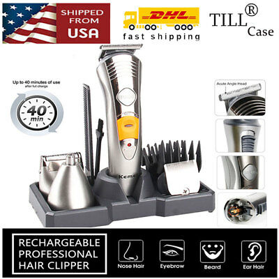 7in1 Rechargeable Trimmer Mustache Clipper Shaver Cordless Hair Razor KM580A
