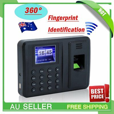A8 Attendance Check Machine Biometric Time Recording USB Fingerprint+ Password
