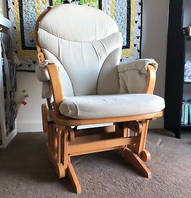 Dutailier Nursing Chair / Glider with Cream Cushions - Lovely Condition