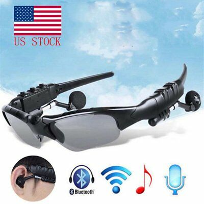 Bluetooth Smart Sunglasses Glasses Headphone Music Headset Stereo Micphone YZ
