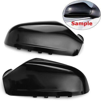 For Vauxhall Astra H MK5 Wing Mirror Cover Cap Casing 04-09 Pair (Gloss Black)