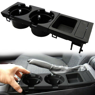 Car Center Console Coin Storage Box & Cup Drink Holder For BMW E46 #51168217953