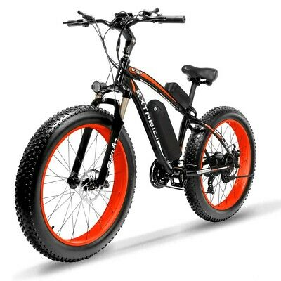 Cyrusher Xf660 Red Electric Bike 27 Speed Mens Bicycle 500W 48V Disc Brake