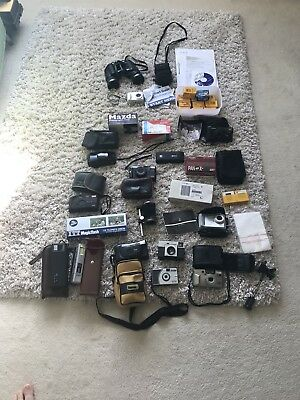 Job Lot Bulk Old Retro Vintage Photography Collectable Cameras