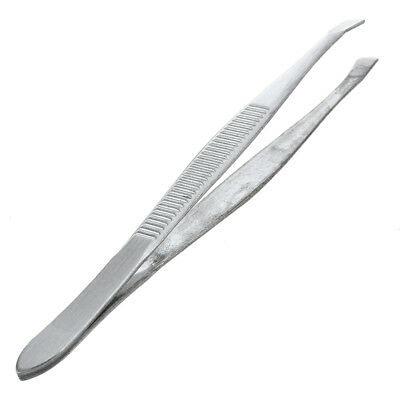 Tweezers for eyebrows depilatory tip carbon steel inclined 9 cm Color Silver H5