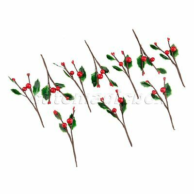 10X Artificial Berries Fruit Decoration Wedding DIY Fake Flowers Leaves Branch