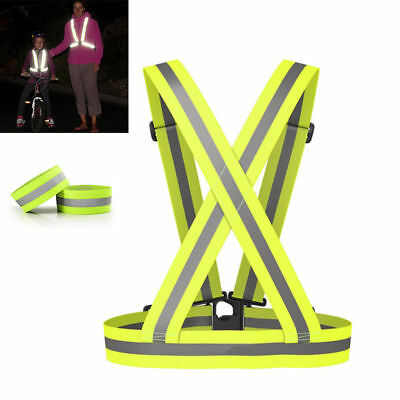 Hi Viz Vest High Vis Safety Visibility Waistcoat Jacket Reflective Belt Night UK