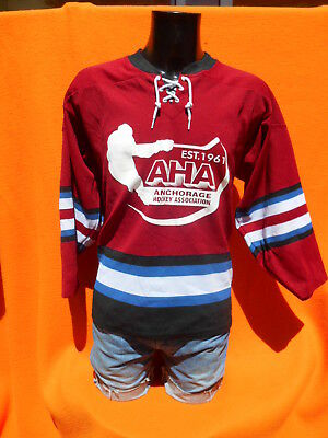 AHA Maillot Jersey Camiseta Trikot Athletic Knit Made in Canada Hockey Vintage