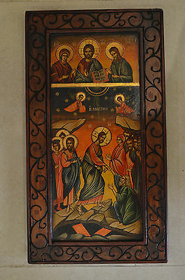 Orthodox Icon The Prayer Jesus Christ Resurrection Handpainted Greek Byzantine