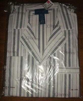 Vintage Mens Small striped Long Sleeve Pajama Set Penneys Towncraft New