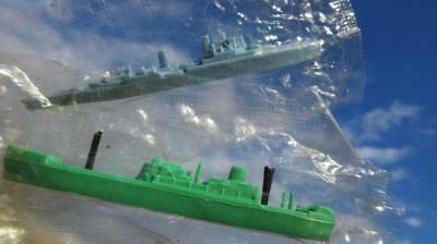 1961 Kelloggs Corn Flakes Cereal Toys Destroyer & Container Ship in Original Cel