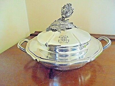 Stunning Antique Rare Odiot French Silver Serving Dish C 1880