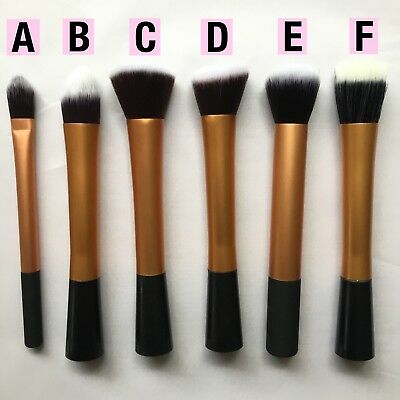 Makeup Brush Foundation Powder Stippling Contour Metallic GOLD Choose