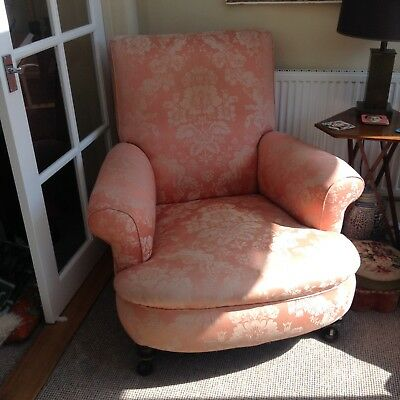 victorian original  library sitting room armchair