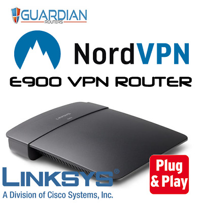 LINKSYS E900 DDWRT NordVPN Router Nord VPN plug & play-just add your  user/pass