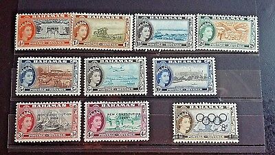 Bahamas Stamps..qe. 10 Stamps.. Very Fine Mint/never Hinged  Dated  1954