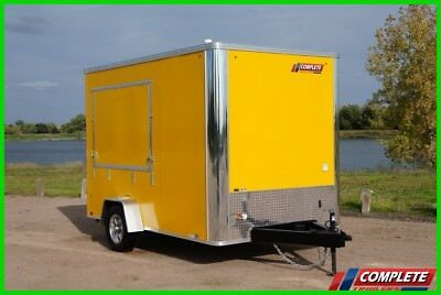 7x12 Single Axle Enclosed Concession Snow Cone Trailer: Sinks, Electric
