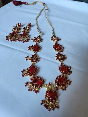 Diamond Necklace And Earring Set