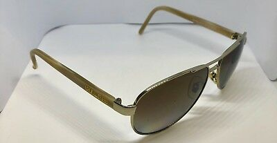 163b2e09a6 RALPH LAUREN RA 4004 900471 Gold Metal Aviator Sunglasses Green Lens ...