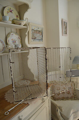 Vintage MetalWire Basket Carrier Storage Industrial  Retro Mid Century Pet Crate