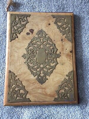Indian Brass and Wood Folder