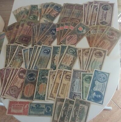 Old Banknote LOT of Hungary 100 pcs