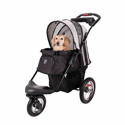 IBIYAYA Turbo Pet Dog Jogger Carrier Pram - Black - Foldable - For Cats & Dogs