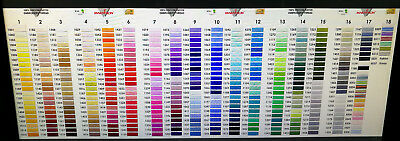 Marathon Embroidery Machine Thread Rayon 1000m Choose From Over 70+ Colours