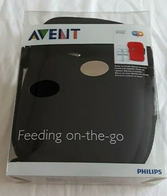 Avent ThermaBag insulated baby bottle bag black for feeding on the go boy girl