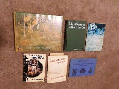 Lot 6 Bks Collecting Fostoria 1st 50 Years + Price Guides + Depression Glass