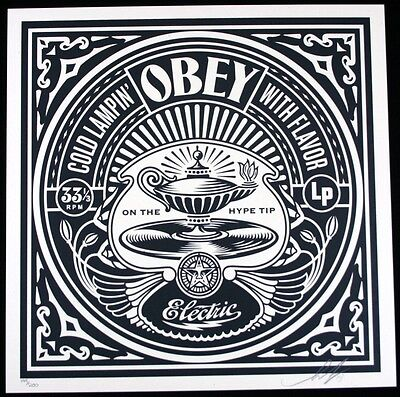 730b4a30a4c SHEPARD FAIREY ♢ 50 shades RECORDS serigraphie SIGNEE ♢ OBEY GIANT MINT
