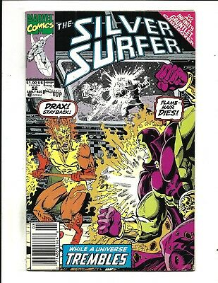 SILVER SURFER Vol.3 # 52 (INFINITY GAUNTLEY X-OVER, AUG 1991), FN