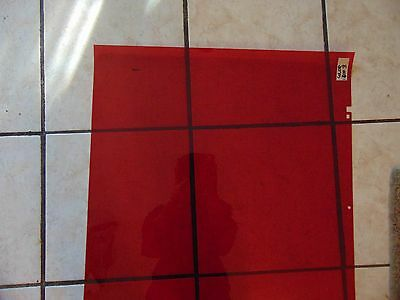 Red Ruby Lith / Polychrome / Lot Of 5 Sheets