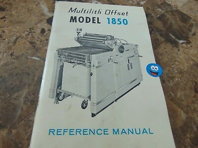 Multilith Offset Model 1850 Reference Manual