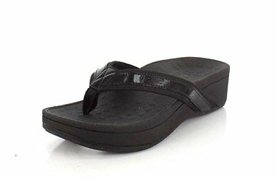 1f8e31551976 Vionic Orthaheel Women Orthotic Pacific High Tide Platform Toe Post Sandal  Black