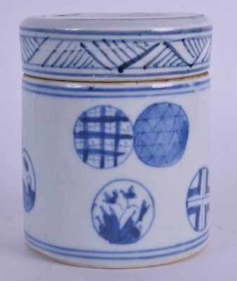 18th19th century blue and white chinese porcelain box and cover chinese pot qing