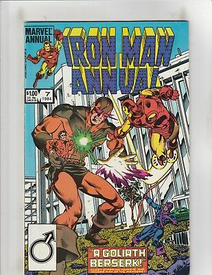 Iron Man Annual #7 FN 6.0 Marvel Comics Hawkeye,Wonder Man vs. Goliath