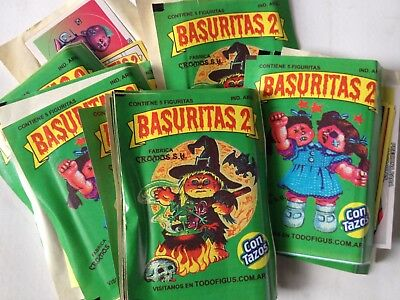 Basuritas 2  Packets 50 Argentina  Garbage Pail Kids 2
