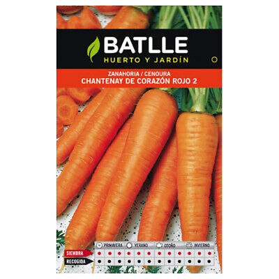 Batlle vegetable seeds - Chantenay Carrot Red Heart (8g)