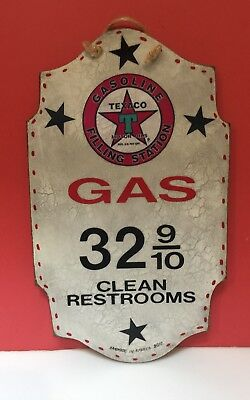 Texaco Gasoline Filling Station Reproduction Sign - Clean Restrooms