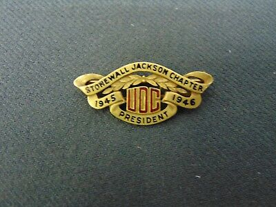 United Daughters of the Confederacy Stonewall Jackson Chapter Presidents Pin