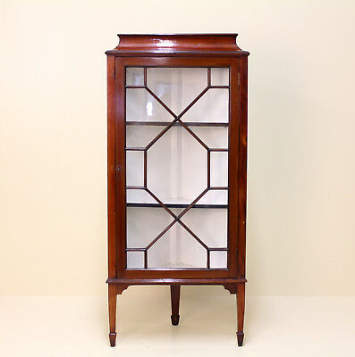 Antique Corner Bookcase Glazed Display Cabinet Victorian Mahogany Astragal