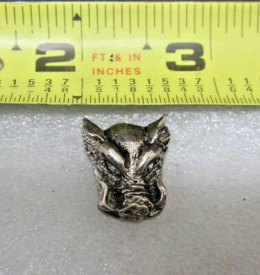 Harley Davidson  Vest Hat Pin From 70S & 80S Pig Head Silver Color